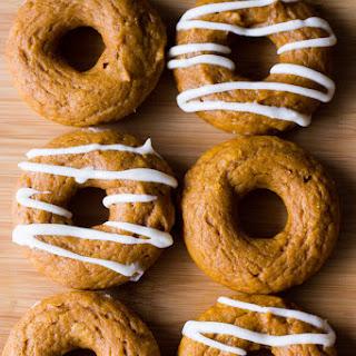 Baked Pumpkin Cake Doughnuts.