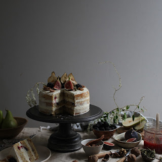 Blackberry Pear And Walnut Cake With Fig And Lemon Verbena Jam