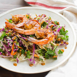 Sweet Heat Asian Barbecued Shrimp Salad.