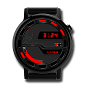 Watch Face: Cyber Black 360 - Wear OS Smartwatch Android APK Download Free By Osthoro