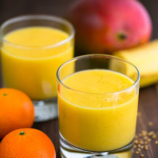Tropical Mango Pineapple Smoothie.
