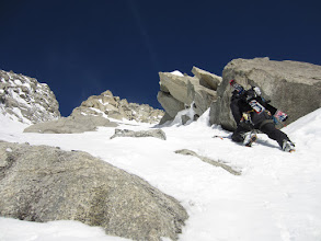 Photo: Exit couloir start