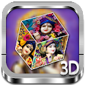 Krishna 3D cube live wallpaper icon