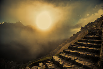 Photo: Beyond the Ancient Mist  Ahhh, sweet memories came flooding back this morning when I woke up thinking about the phenomenal feelings I had on that first morning in Machu Picchu back in June. What a place. So, of course, I just had to go back in my catalogue and look through some photos again. I loved the old stone stair cases that connected each layer of this masterful city, so I wanted to shoot it in it's best light. I hope you like it :)  #tglperu +The Giving Lens and +Colby Brown lead this amazing trip for us. My fellow photographers, and friends +Michael Bonocore +Vincent McMillen+Joe Azure +Mike Chambers and +Christopher Coxwere also on the trip - check out there work....they each have some great shots from the trip.