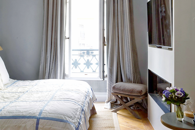 Bedroom at Saint Germain apartment