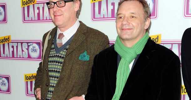Vic Reeves and Bob Mortimer making Michael Jackson glove movie