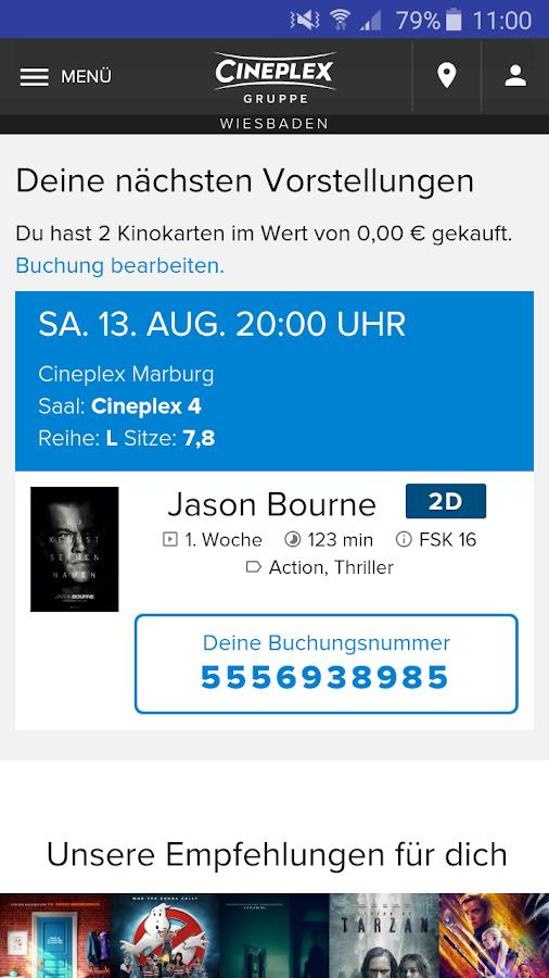 Kinoprogramm Cineplex