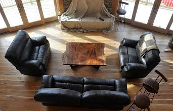 Photo: sapele slab coffee table http://dorsetcustomfurniture.blogspot.com/2015/01/some-sapele-slab-stuff.html