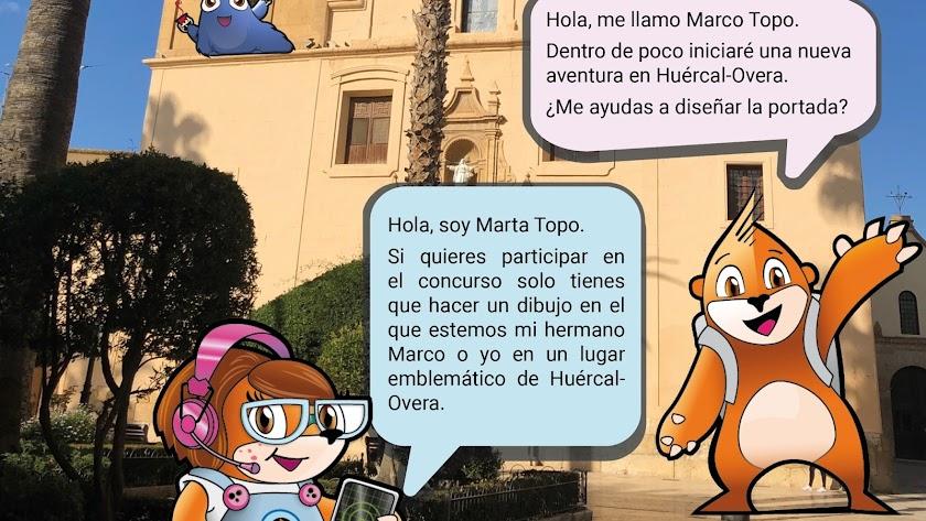 Detalle del cartel del Ayuntamiento de Huércal-Overa.