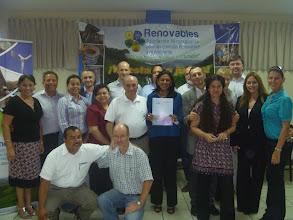 Photo: Acto de la firma de convenio entre ECODES y Renovables, febrero del 2011, UNI, Managua