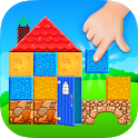 Construction Game Build with bricks icon