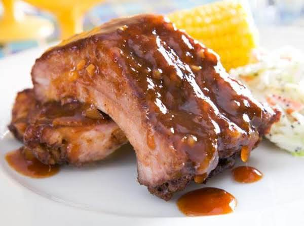 Pork Ribs W/mango Barbecue Sauce Recipe