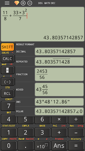 Natural mathematics display fx calculator 991 ms 4.0.6-25-05-2019-00-release screenshots 1