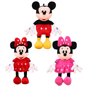 Jucarie muzicala Mickey Mouse sau Minnie Mouse 30 cm
