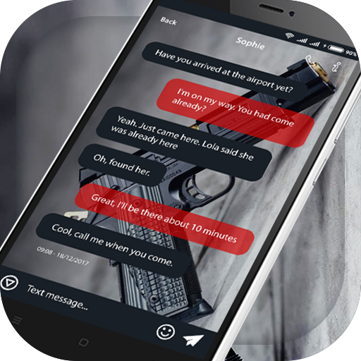 App Insights: Gun SMS Message -Free Theme for i Messenger I