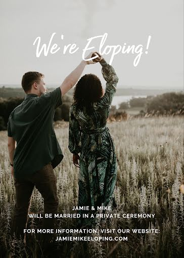 We're Eloping - Wedding Invitation Template