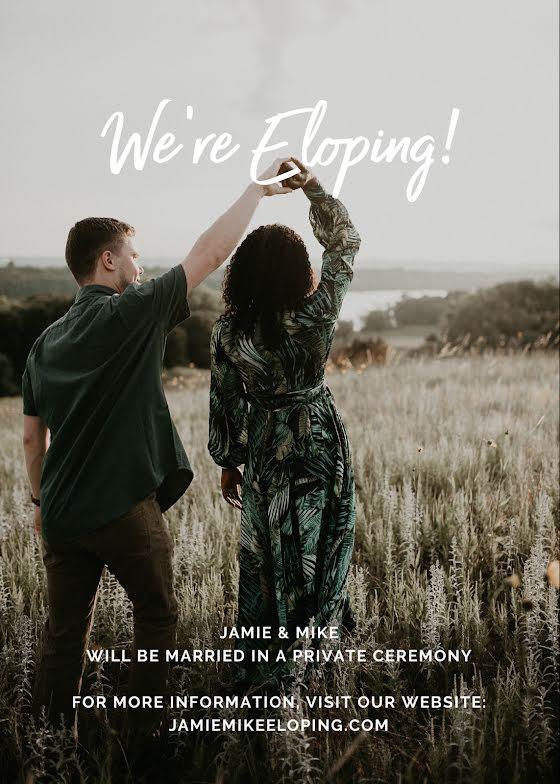 We're Eloping - Wedding Invitation Template