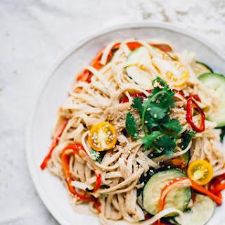 Vegan Tahini Pad Thai