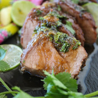 Asian Glazed Five Spice Pork Tenderloin.