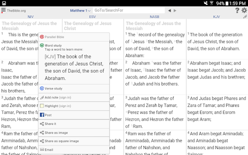 Parallel+Exegetic Bible Study- screenshot thumbnail