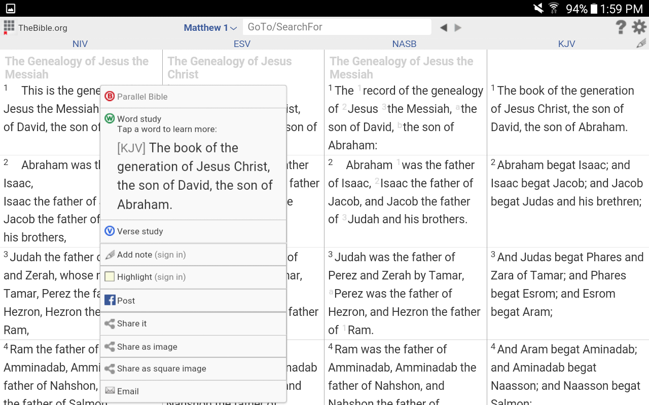 Parallel+Exegetic Bible Study- screenshot
