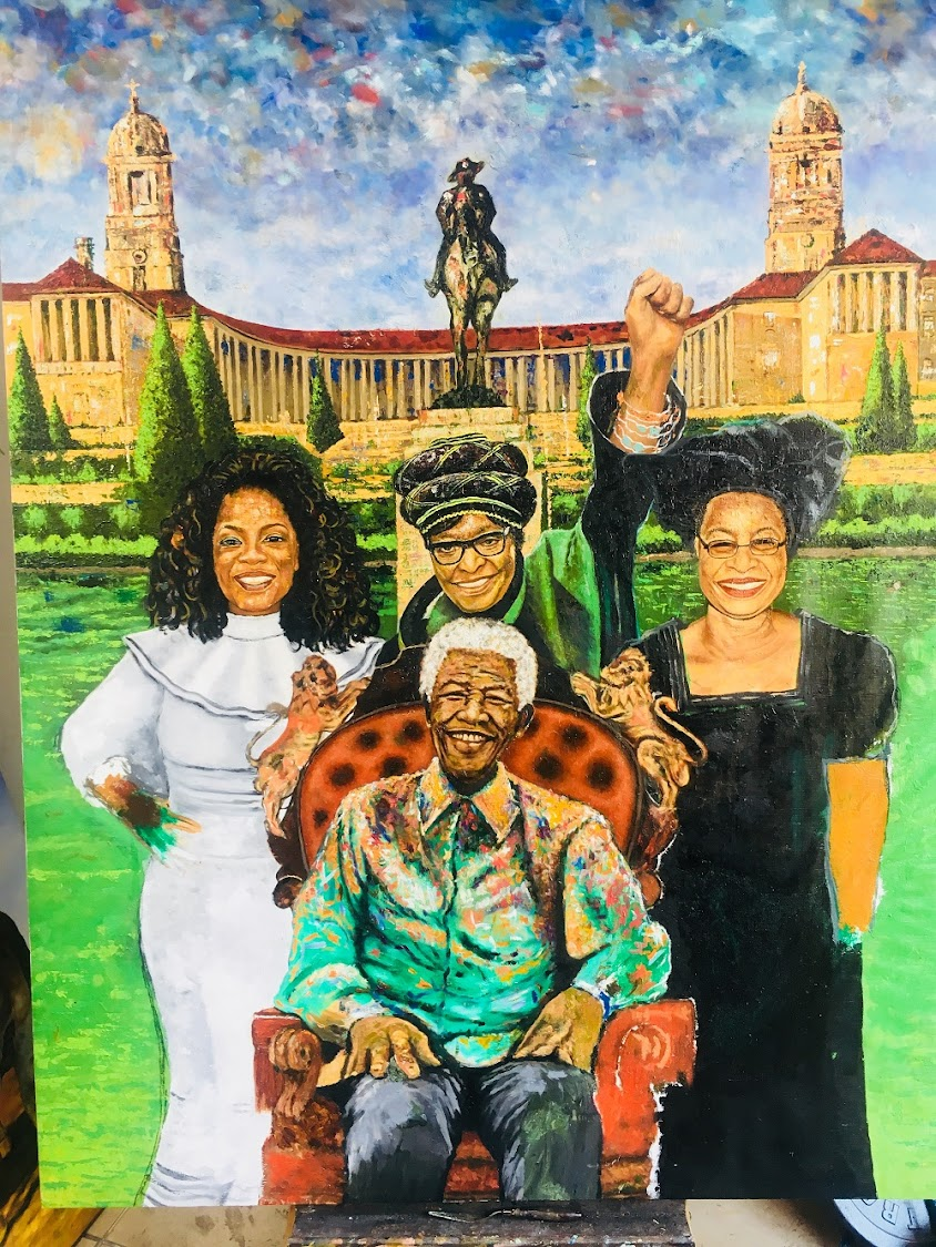 The full oil on canvas by Doctor Khumalo. Picture: SUPPLIED