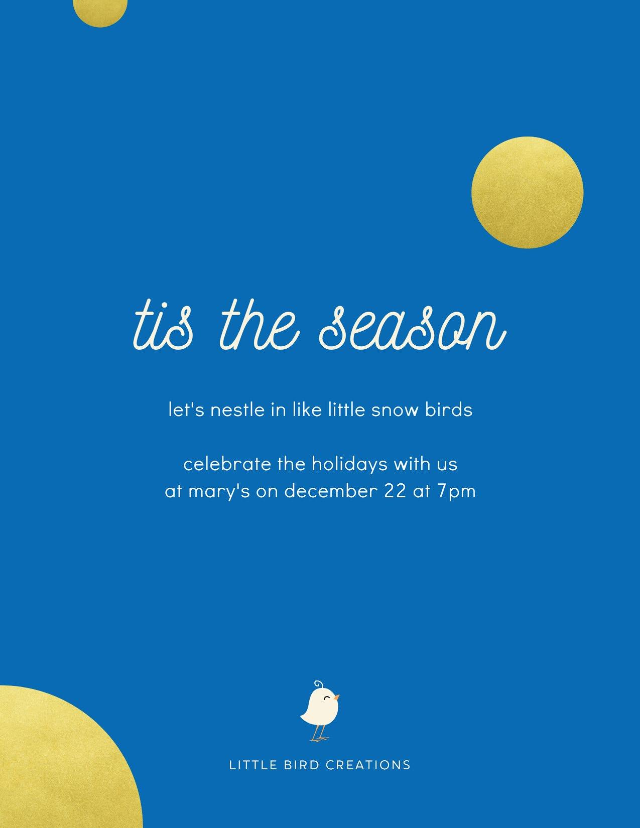 Little Snow Birds - Christmas Template