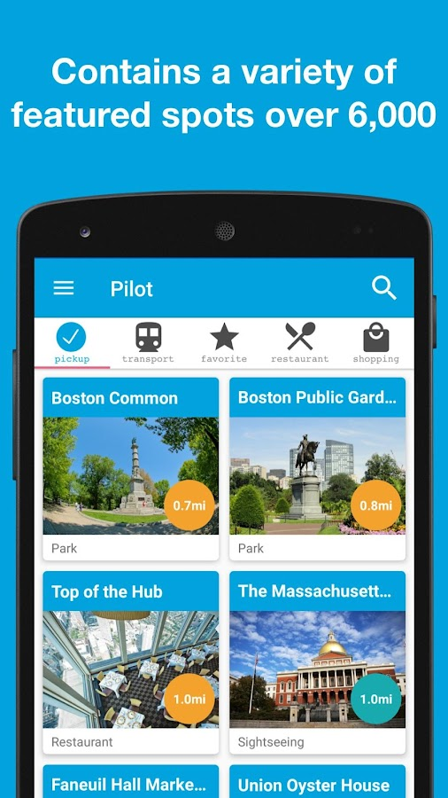 Pilot for Boston, USA guide- screenshot