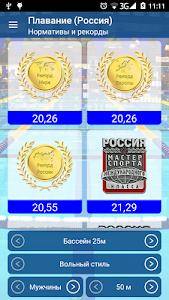 Плавание нормативы, рекорды screenshot 0