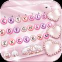 Pink Pearl Luxury Heart Keyboard Theme icon