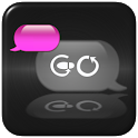 Pink Metal Theme for GO SMS icon