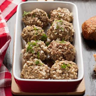 Easy 5 Ingredient Crock Pot Rice Meatballs