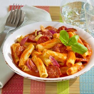 Pasta mit feuriger Tomatensauce