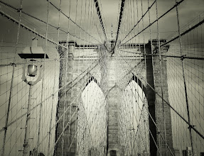 Photo: The Brooklyn Bridge.   New York City.  View the writing that accompanies this post here at this link on Google Plus:  https://plus.google.com/108527329601014444443/posts/ANR3uaB9GRU  View more New York City photography by Vivienne Gucwa here:  http://nythroughthelens.com/