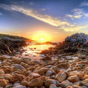 Sunset Bay by Elmer van Zyl - Landscapes Sunsets & Sunrises ( hdr process, , hdr )