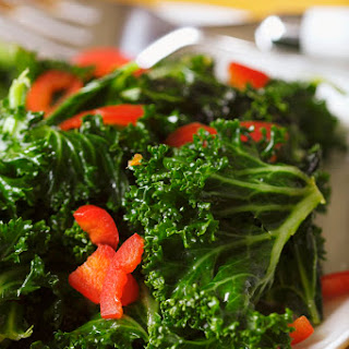 Kale With Garlic and Peppers.