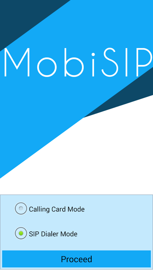 MobiSIP Dialer- screenshot