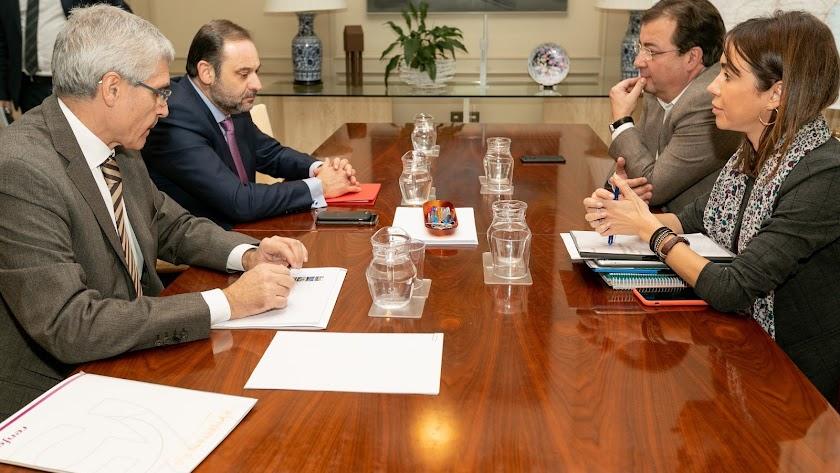 Reunión con el presidente de Extremadura.
