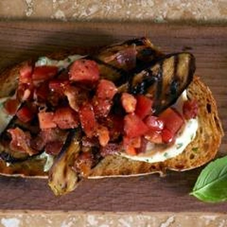 Grilled Eggplant, Bacon & Tomato Sandwiches with Basil Mayonnaise Recipe