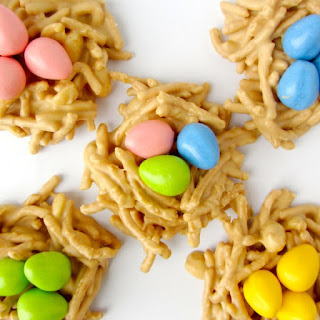 No-Bake Peanut Butter Bird Nests