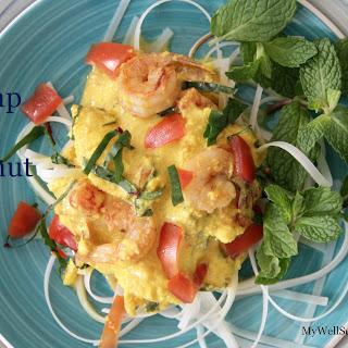 Spicy Shrimp in Coconut Sauce.