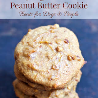 Healthy Peanut Butter Cookie Dog Treats.