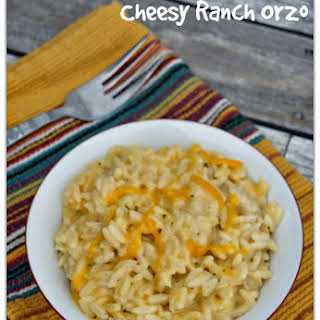 Recipe for Slow Cooker Cheesy Ranch Orzo.