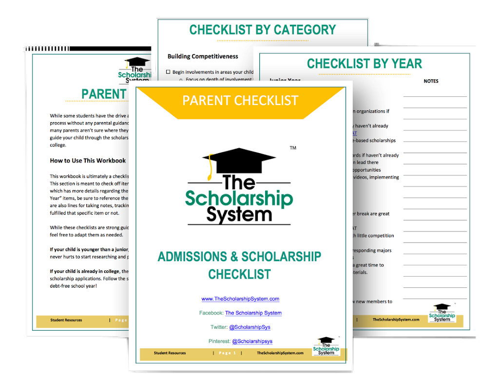 Parent checklist for college admissions and scholarships