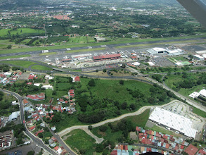 Photo: View of San Jose from the little airplane to Puerto Jimenez