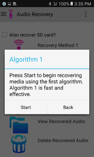 Audio Recovery 4.8 screenshots 2