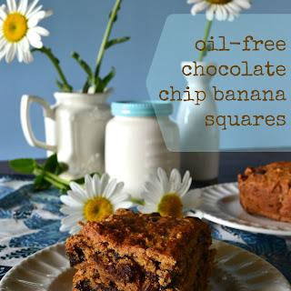 Quick Chocolate Chip Banana (Bread) Squares