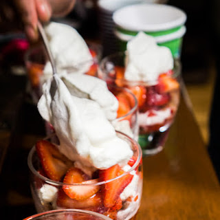 Strawberry Parfait with Orange Blossom Crumbs
