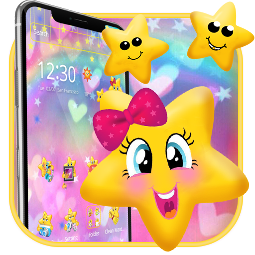 Cute Yellow Star Emoji Theme