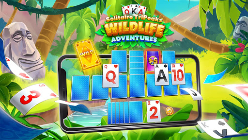 Solitaire TriPeaks: Wildlife Adventures Card Game apklade screenshots 1